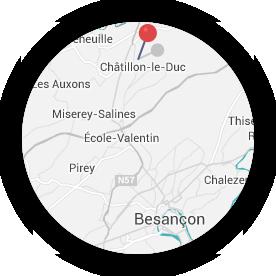 Localisation de la commune de Châtillon le Duc